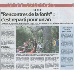 Article Indépendant 9 septembre 2010